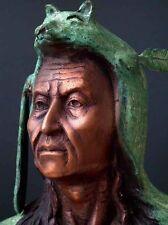Bronze America Indian Bust Tribal Art