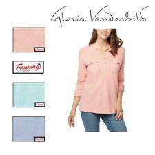 SALE! Gloria Vanderbilt Women's Penelope Knit Shirt Top VARIETY SIZE/COLOR | A42