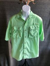 Mens World Wide Sportsman Fishing Short Sleeve Buttondown Size Medium