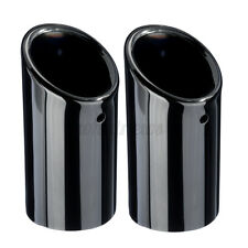 2x Exhaust Muffler Tail Pipe Tip Black For Bmw E90 E92 325 3 Series 2006-2010