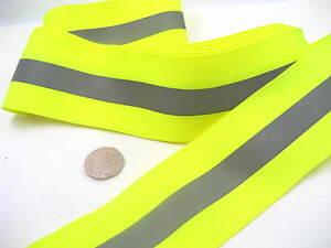 green silver  Hi Viz Reflective ribbon tape bike jacket night safety use tape