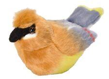 Cedar Waxwing Audubon Bird w/ call PLUSH stuffed animal Wild Republic