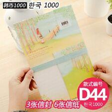 korean  paper letter Writing  Envelope Set girl love