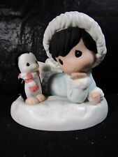 """Precious Moments """" Alaska Once More How's Yer Christmas """" Figure Retired"""