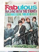 Rare Fabulous Magazine 1964 - Rolling Stones special + Beatles,Hollies & Gene P