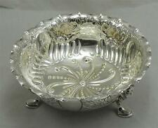 LONDON 1891 ANTIQUE VICTORIAN BOWL 145mm 197g STERLING SILVER BY CHARLES EDWARDS