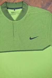 Nike Golf Dri-Fit MM Fly Swing Knit Alpha Blade Polo Shirt Green Men's XL