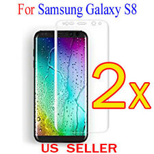 2x Full Cover Curved Clear Screen Protector Guard Film For Samsung Galaxy S8