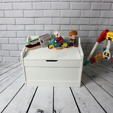 WestWood Kid Children Toy Storage Organiser Box Chest Lid Bench MDF TSB01 White