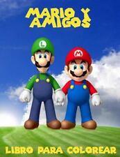 Mario y Amigos Livro para Colorir : Un Gran Libro para Colorear para Los...