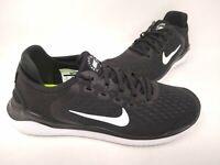 NEW! Nike Men's Free Run 2018 Lace Up Shoes Black/White #942836-001 197MNOP tc