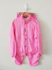 Athletica Vintage 90s Neon Pink Parachute Tracksuit Kath & Kim Hip Hop {Size M}