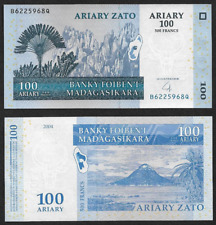 Africa Madagascar 100 Ariary / 500 Francs UNC Banknote 2004 N15
