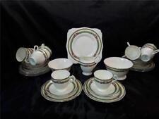 Art Deco Tuscan Plant China  Vintage Tea set  34 pieces Cups Saucers etc