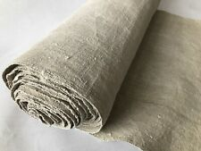 7m Vintage Antique Rustic Handwoven Home Loomed Linen Fabric Upholstery Job Lot