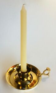 Vintage Solid Brass Candle Holder Chamber Stick Metal Antique Table Decor