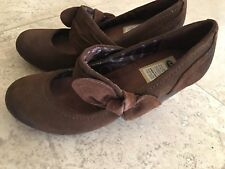 Dr Scholl's Brown Suede Mary Jane Heels Brown, Mint Condition, Size 6M, Fits 5-6