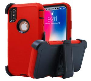 Apple iPhone X Case Holster Kickstand Premium TPU PC Flexible Slim Fit Cover 🔥