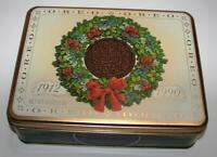 Vtg Nabisco Oreo Christmas Cookie Tin (No Cookies) Wreath Candy Kitchen Holiday