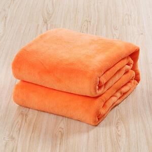 Coral Velvet Soft Warm Polar Fleece Blanket Rug Sofa Bed Throwover 70*100CM ra