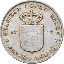[#919111] Coin, Belgian Congo, RUANDA-URUNDI, Franc, 1958, VF(30-35), Aluminum