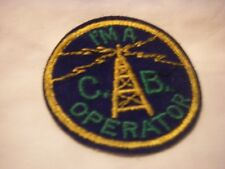 I'M A C.B OPERATOR VINTAGE RADIO SOUVENIR CLOTH PATCH EMBROIDERED DESIGN '70s
