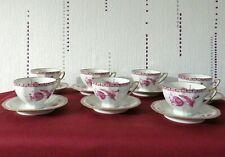BERNARDAUD LIMOGES : service à café ou à thé en porcelaine décor  fleurs