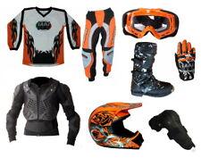 abbigliamento completo kit tuta per moto da cross fuoristrada adulto o bambino