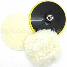 "7"" Electric Car Polishing Wheel Buffing Soft Quick Fit Backing Bonnet Pads"