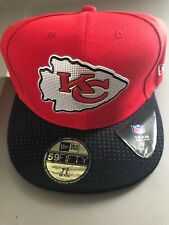 Kansas City Chiefs Fitted Hat Cap Red 2 Tone Nfl Football