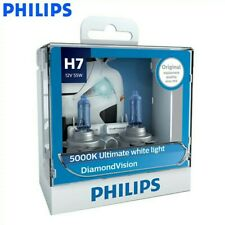 2 Bombillas Philips DIAMONDVision H7 5000K  Faros Coche DAYMOND White Xenon BLUE