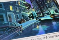 Walt Disney TV Animation BONKERS 1993 Color Key Laser Background Downtown Street
