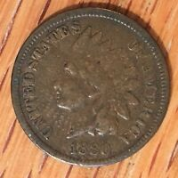 1880 Indian Cent - High Quality Scans #G017