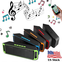 Portable Bluetooth Wireless Speaker Rechargeable Stereo Super Bass USB/FM Radio