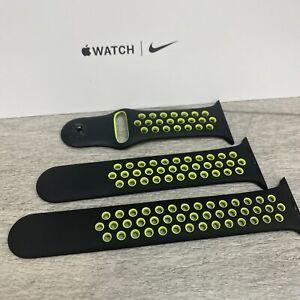 Genuine Apple x Nike sport band Black / Volt - 42/44mm  -  3 Strap