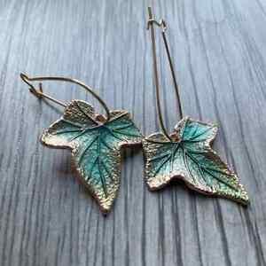 Ivy Leaf Earrings, Elf Earrings, Boho, Fairy, Fae, Pagan, Nature **UK Seller**