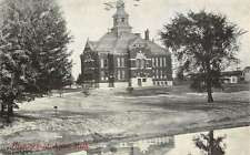 Alma Michigan High School Exterior Street View Antique Postcard K19260