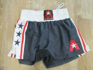 Anthem Athletics Classic Muay Thai Shorts Kickboxing Red White Blue XL EUC