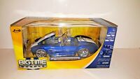 Brand New Jada 1965 Shelby Cobra 427 S/C Big Time Muscle Blue 1:24 Scale