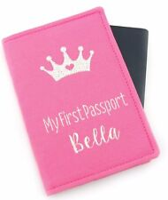 Personalised Pink Girls Baby Kids My First Passport, Passport Holder, Passport