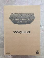 MOTUC Matty Exclusive Club Eternia SSSQUEEZE Motu Uncirculated Brown Mailer
