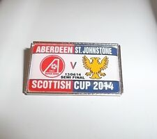 ST.JOHNSTONE FC VS ABERDEEN FC SCOTTISH SEMI CUP FINAL BADGE