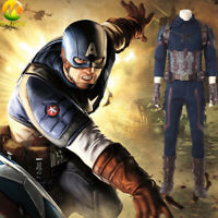 Avengers Infinity War Captain America Cosplay Costume Halloween outfit for men