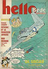 Hello bédé # 19 1991 BD aircraft avion Gil Sainclair Bob Morane Petitcric Tintin