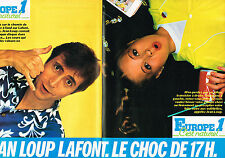 PUBLICITE ADVERTISING 014   1981   EUROPE 1 radio   JEAN LOUP LAFONT  ( 2 pages)