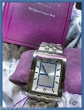 Men Ted Baker Watch Stainless Steel Rectangle Dial Blue Accents New/boxTE3004