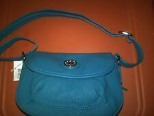 NWT KIM ROGERS TEAL COLORED SHOULDER BAG PURSE VERY NICE!
