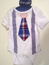 CHILD BABY 6-12 MTS TODDLERS PATRIOTIC RED WHITE BLUE ONE PIECE SHIRT BOYS