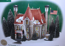 Mib Dept.56 Christmas In The City Consulate, 2 Piece Set, Lighted