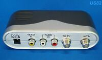 us selle RF MODULATOR RCA COAX CABLE ADAPTER TV AV COAXIAL CONVERTER AUDIO VIDEO